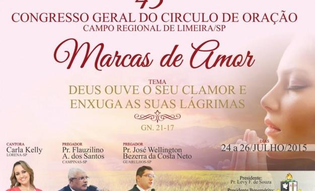 Congresso geral Circulo de Oração Marcas de amor