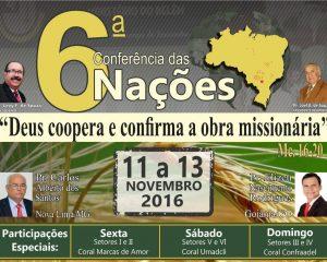 Conferência das Nações – 11 a 13 de Novembro. Vocês não podem ficar de fora!
