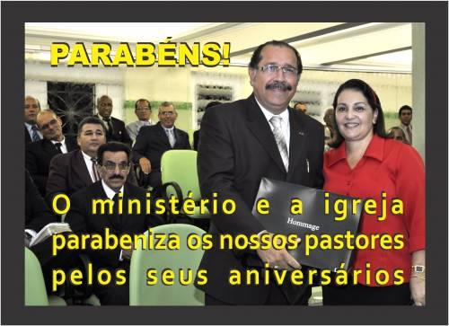 Parabéns Pr. Levy e Prª Tânia