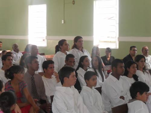 Batismo em Severínia em 27 e 28 de novembro de 2010