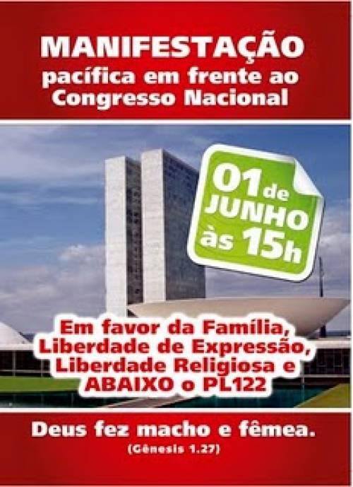 Marcha da Família contra o PL 122 em Brasília