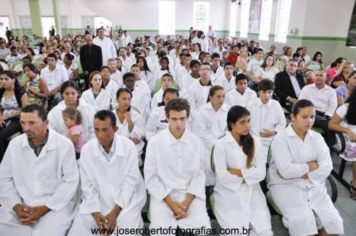 1º Batismo do ano no Templo Sede em Limeira