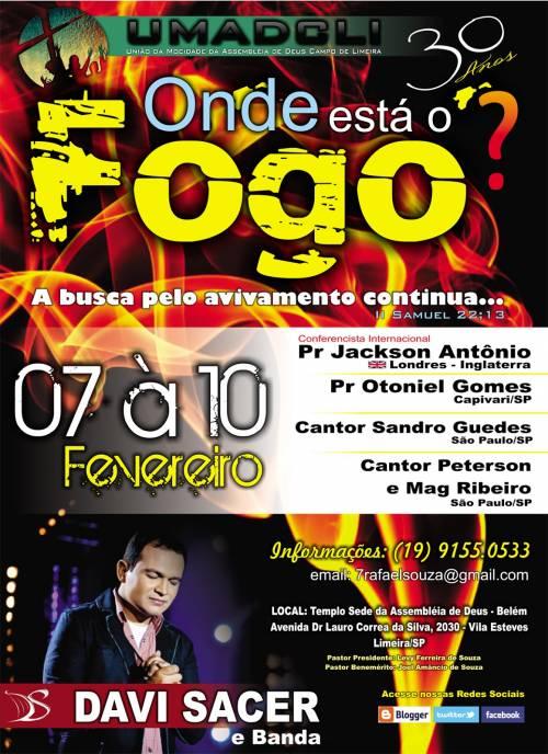Cantor Davi Sacer e banda em Limeira na UMADCLI 2013