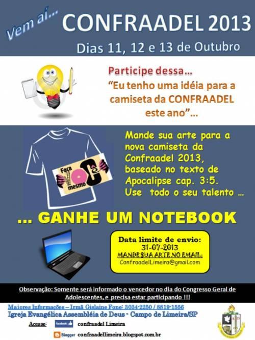 Confraael, conheça a campanha da camiseta