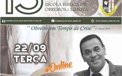 Pr Jonas Rodrigues  será o palestrante da segunda noite