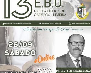 EBO 2020 encerra hoje com o Pr. Levy