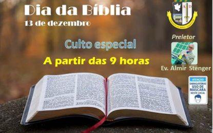 Domingo será o Dia da Bíblia