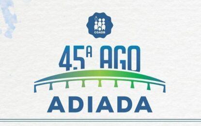 Assembleia Geral Ordinária da CGADB é adiada para 2022